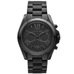 Michael Kors Bradshaw Chronograph Black Dial Black Ion-plated Mens Watch MK5550